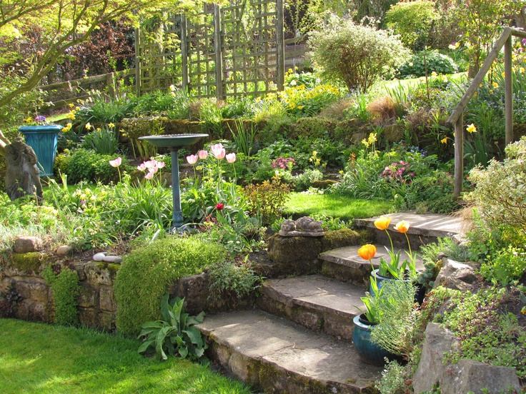 Gardening on slopes for Terrace garden design