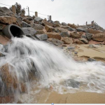 Storm runoff, San Carlos /Beach Parkphoto by Vern Fisher, Monterey Herald