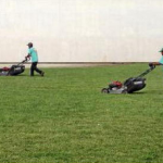 Mowing a Large Lawn by Kevin Johnson - Sentinel file photo